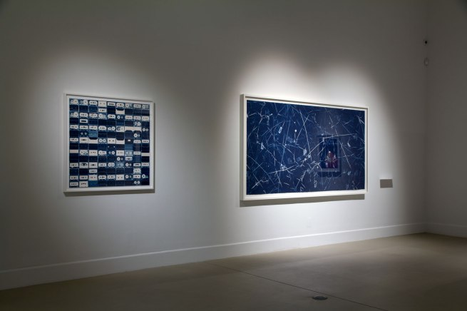 Installation view of the exhibition Emanations: The Art of the Cameraless Photograph at the Govett-Brewster Art Gallery