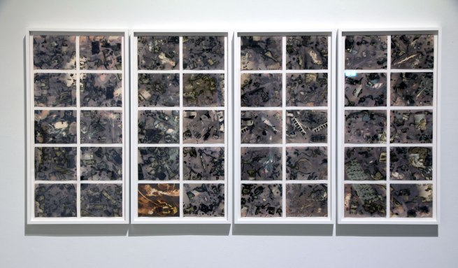Installation view of Lynn Cazabon (US) 'Diluvian' 2010-13