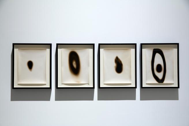 Installation view of Aldo Tambellini (Italy/US) 'Videograms' 1969