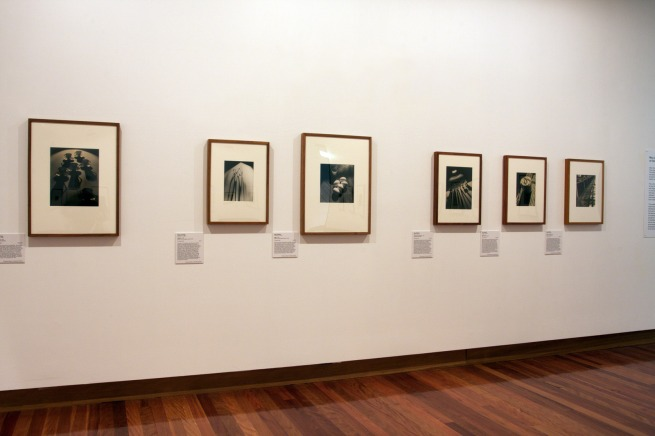 Installation view of the exhibition 'Max and Olive: The photographic life of Olive Cotton and Max Dupain' at The Ian Potter Museum of Art, Melbourne