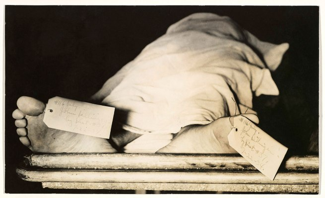 Unknown (American) '[John Dillinger's Feet, Chicago Morgue]' 1934