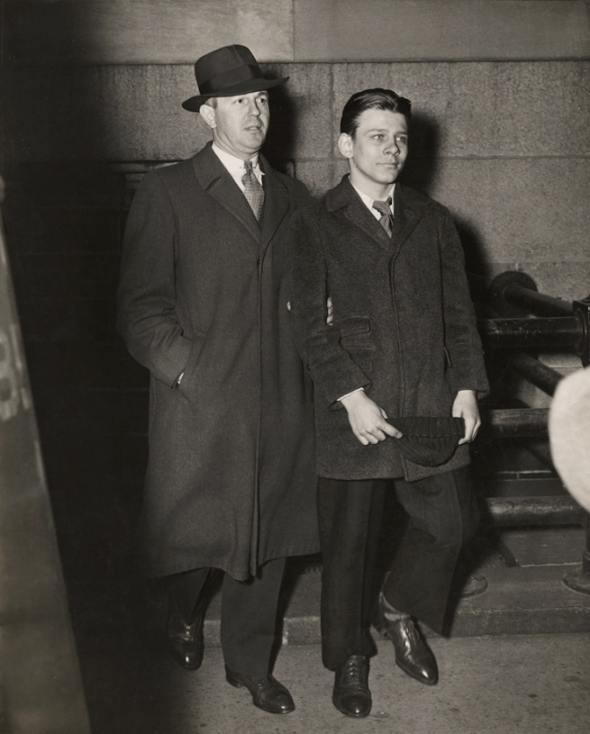 Weegee (Arthur Fellig) 'Man Escorting Frank Pape, Arrested for Strangling Boy to Death, New York. November 10, 1944' 1944