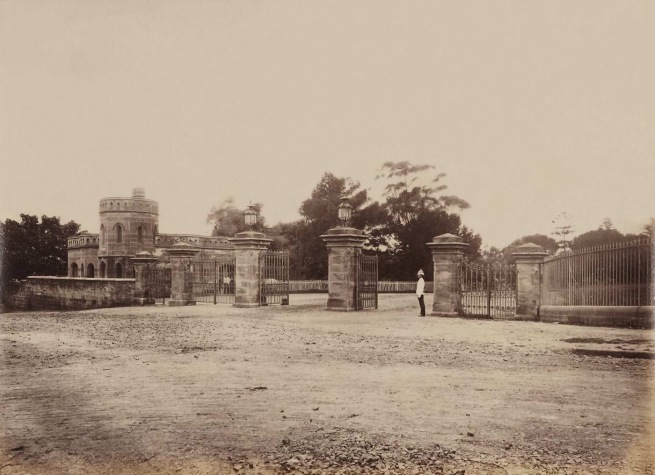 John Paine. 'The entrance gates of Government House, Sydney' c. 1878