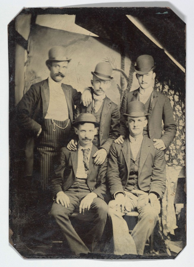 Unknown. '[Five Members of the Wild Bunch]' c. 1892