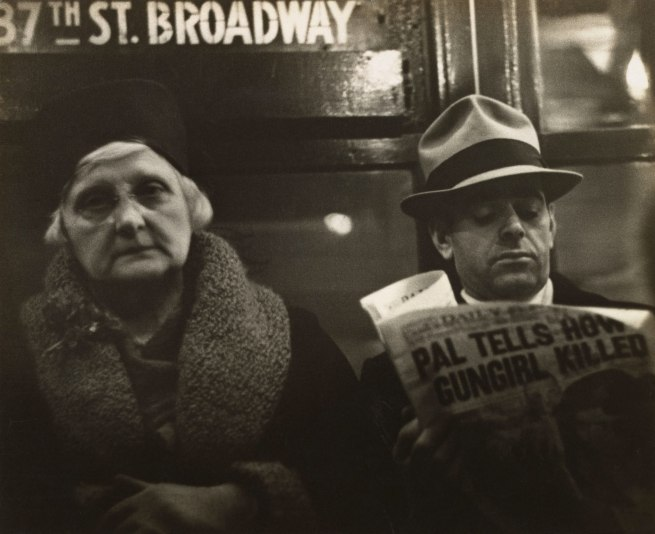 Walker Evans (American, St. Louis, Missouri 1903–1975 New Haven, Connecticut) '[Subway Passengers, New York City]' 1938