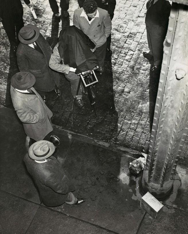 Weegee (American, born Ukraine (Austria), Złoczów (Zolochiv) 1899 - 1968 New York) 'Human Head Cake Box Murder' c. 1940