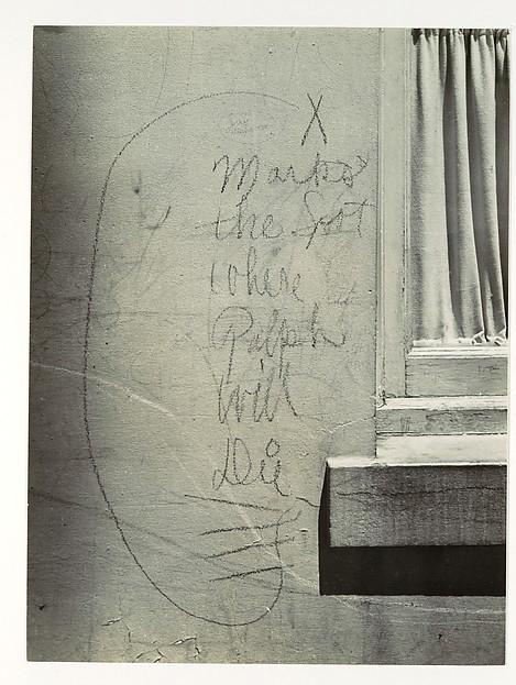 "John Gutmann (American (born Germany), Breslau 1905 - 1998 San Francisco) ""X Marks the Spot Where Ralph Will Die"" 1938"