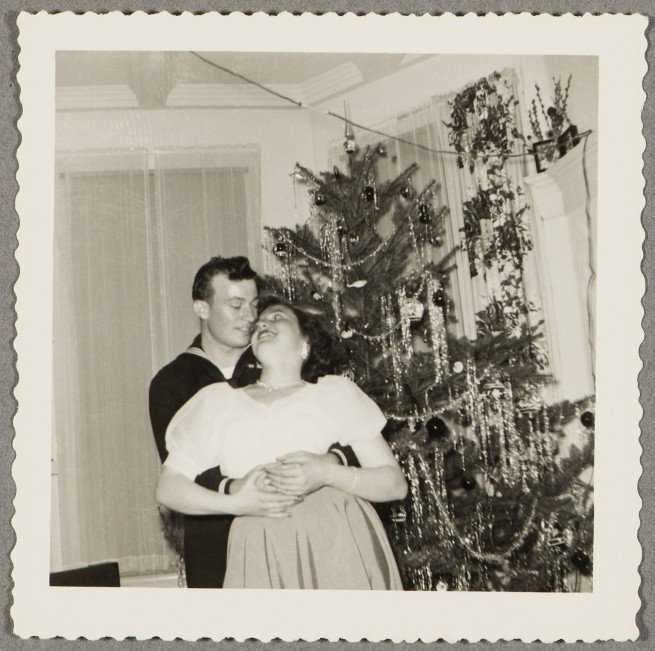 Unknown maker (American). 'Couple with Christmas tree' c 1940s
