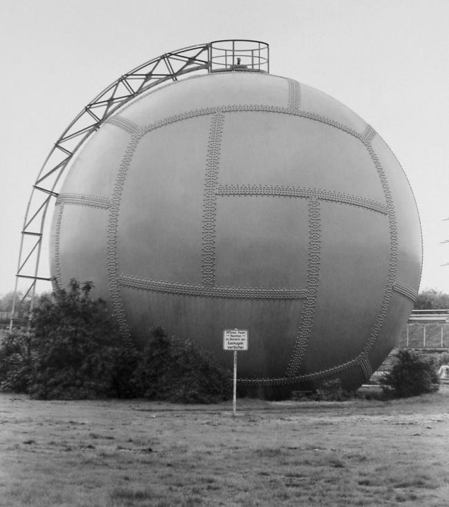 Bernd and Hilla Becher. 'Gas Tank: Essen-Karnap D' 1973