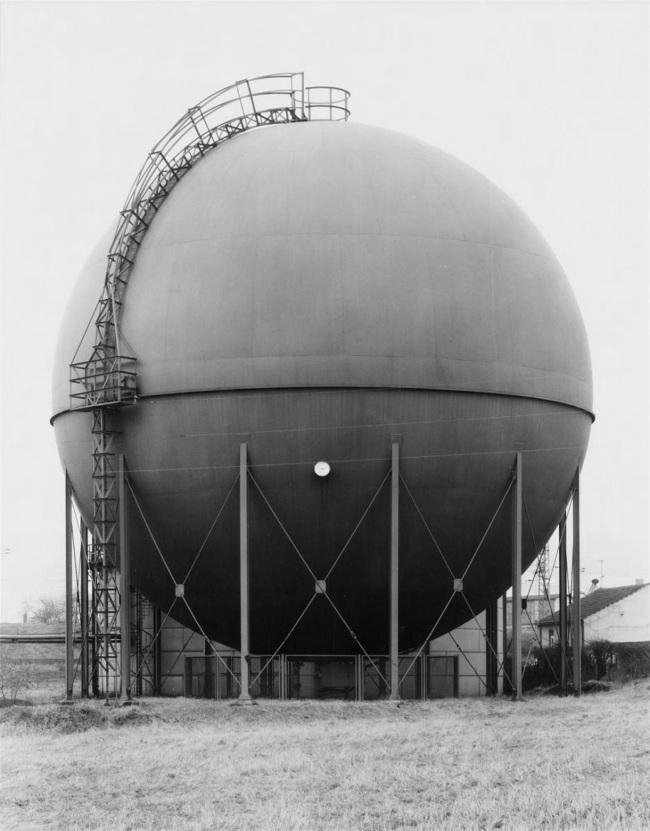 Bernd And Hilla Becher. 'Gasbehälter bei Wuppertal (Gas tank near Wuppertal)' 1966