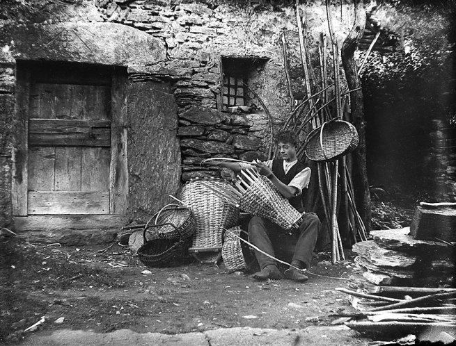 Roberto Donetta. 'Untitled [Basket maker], Bleniotal' Nd