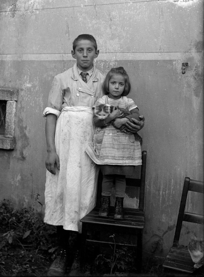 Roberto Donetta. 'Untitled [Boy and girl]' Nd