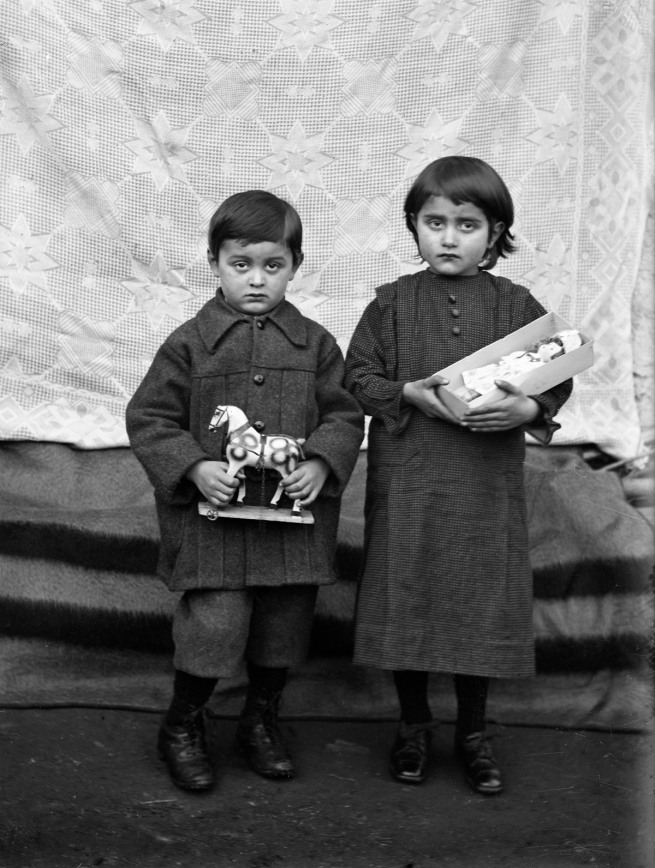 Roberto Donetta. 'Children with Toys, Bleniotal' Nd