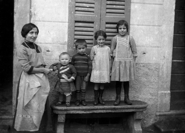 Roberto Donetta. 'Family Portrait, Bleniotal' Nd