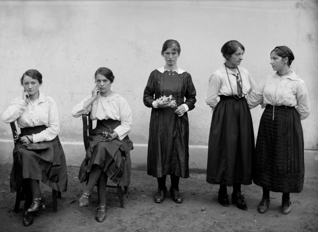 Roberto Donetta. 'Female Workers in Front of the Chocolate Factory Cima Norma, Dangio-Torre' Nd