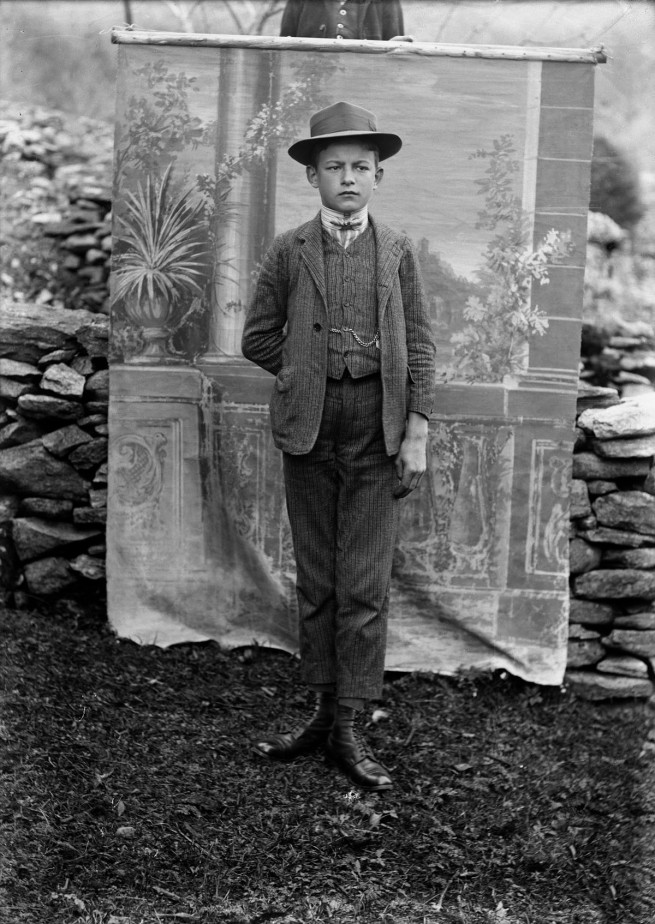 Roberto Donetta. 'Portrait of a Boy, Bleniotal' Nd