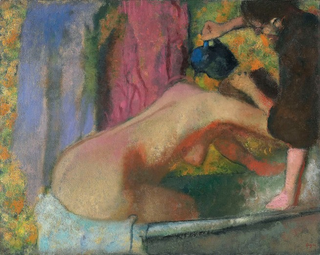 Edgar Degas. 'Woman at her bath' c. 1895