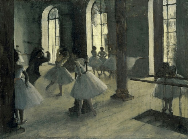Edgar Degas. 'The dance rehearsal' c. 1870–72