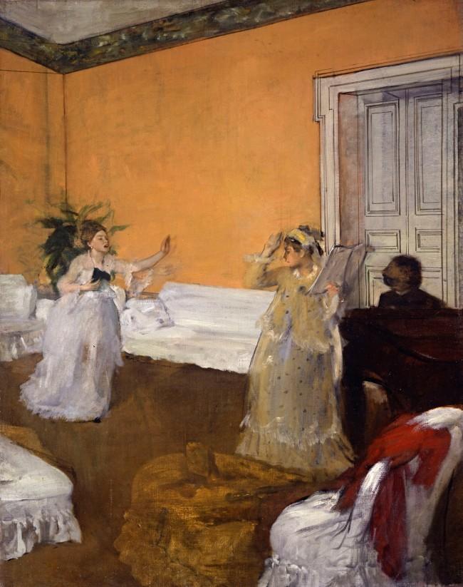Edgar Degas. 'The song rehearsal' c. 1872–73