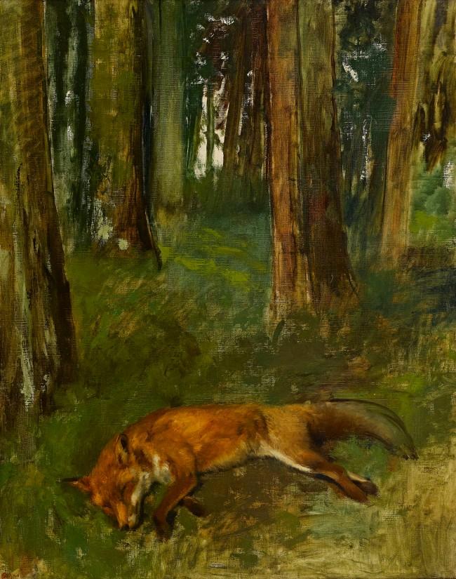 Edgar Degas. 'Dead fox in the undergrowth' 1864-68