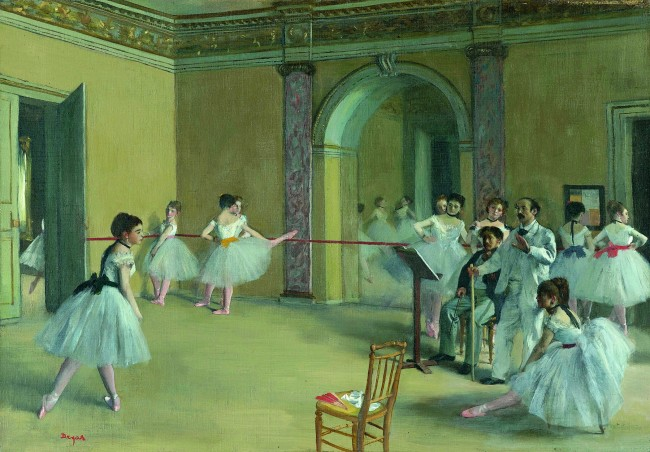 Edgar Degas. 'Rehearsal hall at the Opéra, rue Le Peletier' 1872