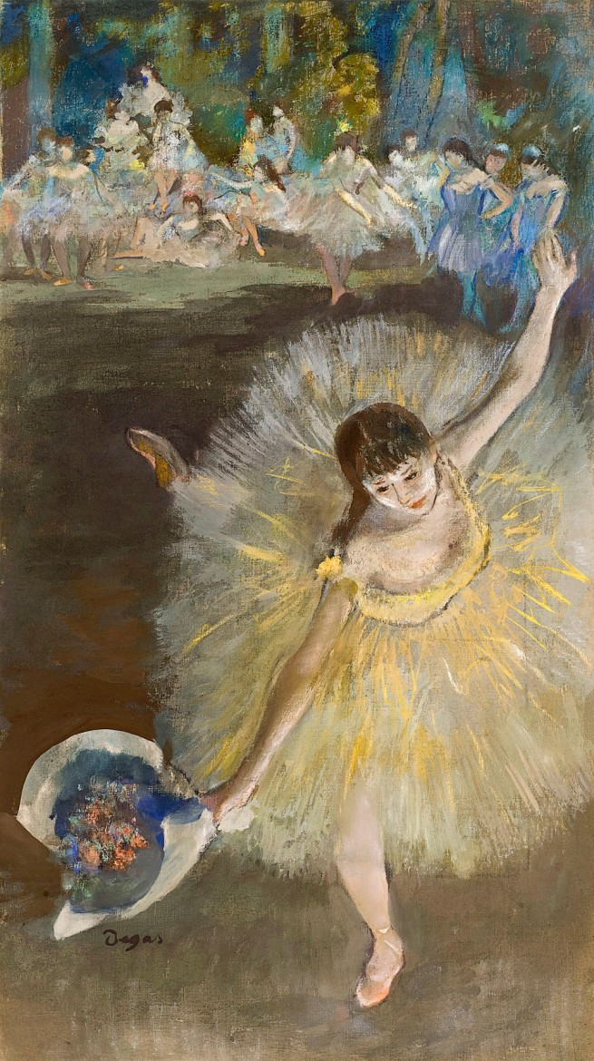 Edgar Degas. 'Finishing the arabesque' 1877