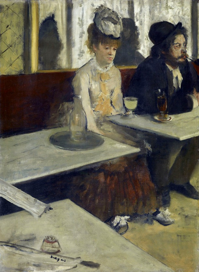 Edgar Degas. 'In a café (The Absinthe drinker)' c. 1875-76