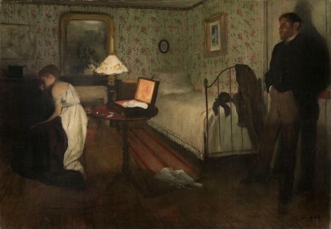 Edgar Degas. 'Interior' c. 1868-69