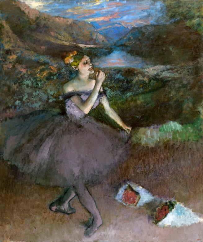 Edgar Degas. 'Dancer with bouquets' c. 1895-1900