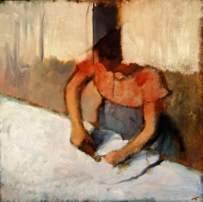 Edgar Degas. 'The laundress ironing' c. 1882-86