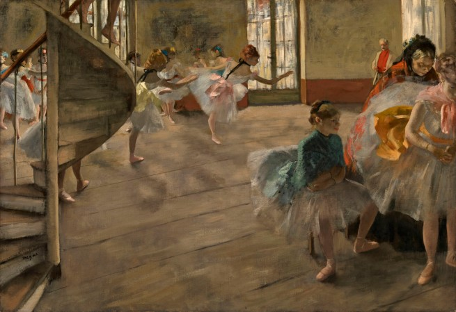 Edgar Degas. 'The rehearsal' c. 1874