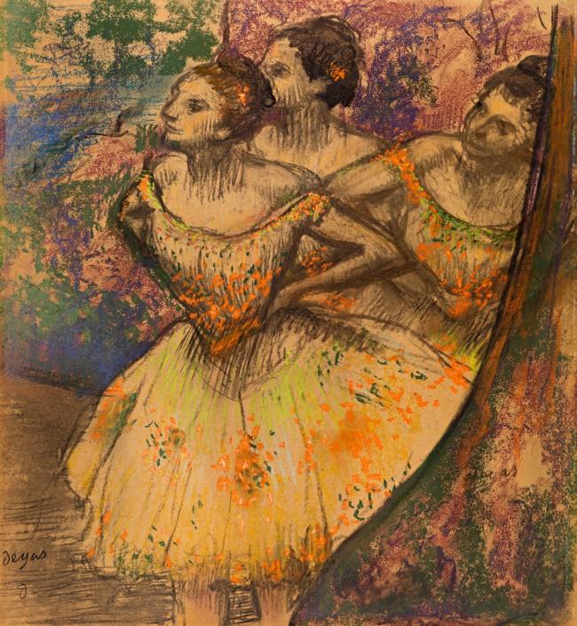 Edgar Degas. 'Three dancers' 1896-1905