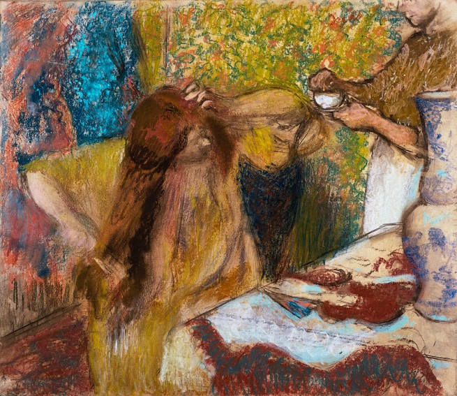 Edgar Degas. 'Femme a la toilette [Woman at her toilette] c. 1894
