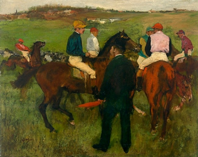 Edgar Degas. 'Out of the paddock (Racehorses)' c. 1871-72, reworked c. 1874-78