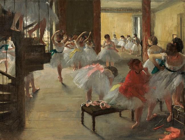 Edgar Degas. 'The dance class' c. 1873