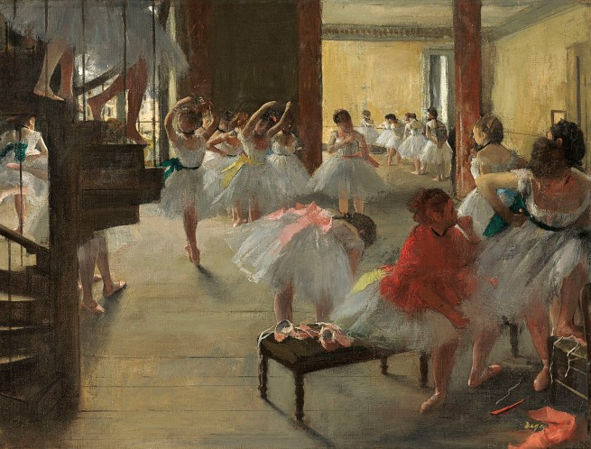 Edgar Degas. 'The dance class' c. 1873