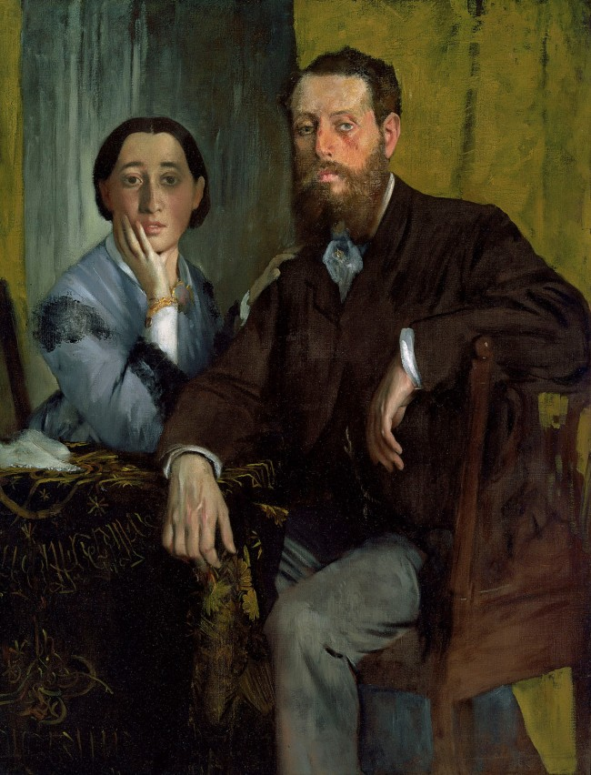 Edgar Degas. 'Edmondo and Thérèse Morbilli' c. 1865
