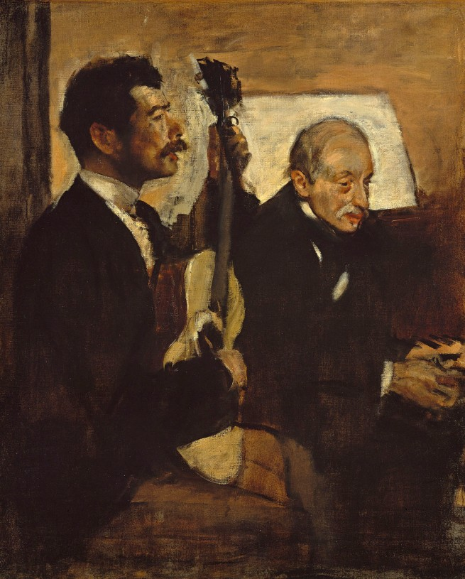 Edgar Degas. 'Degas's father listening to Lorenzo Pagans playing the guitar' after 1874