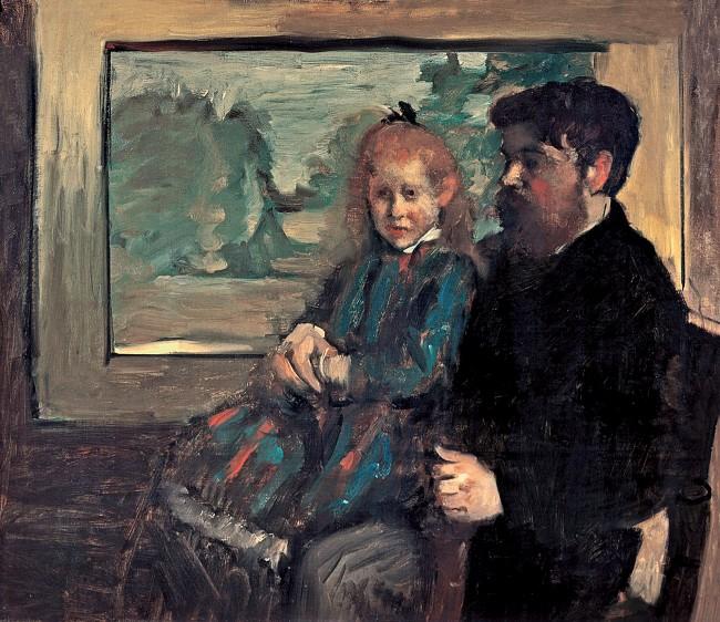 Edgar Degas. 'Henri Rouart and his daughter Hélène' 1871-72