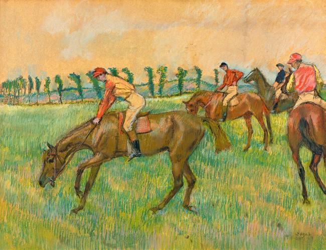 Edgar Degas. 'Before the race' c. 1883-90
