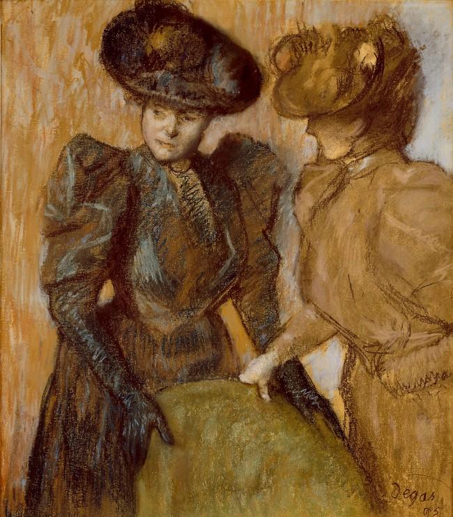 Edgar Degas. 'The Conversation' 1895