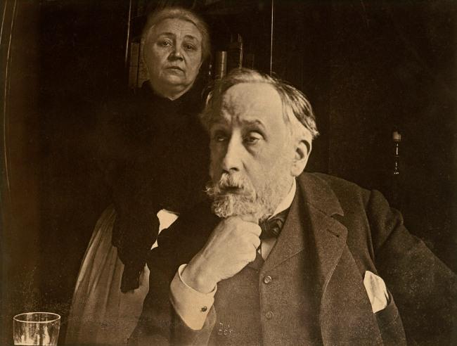 Edgar Degas. 'Self-portrait with Zoé Closier' probably Autumn 1895