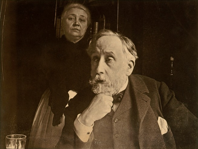 Edgar Degas. 'Self-portrait with Zoé Closier' probably Autumn 1895
