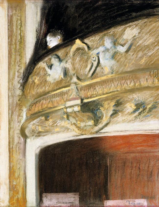 Edgar Degas. 'Theatre box' 1880
