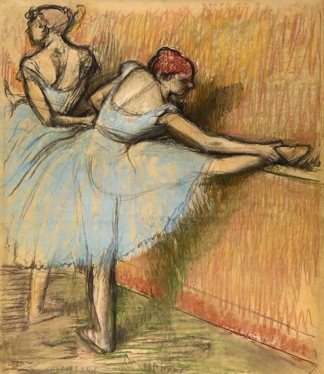 Edgar Degas. 'Dancers at the barre' 1900