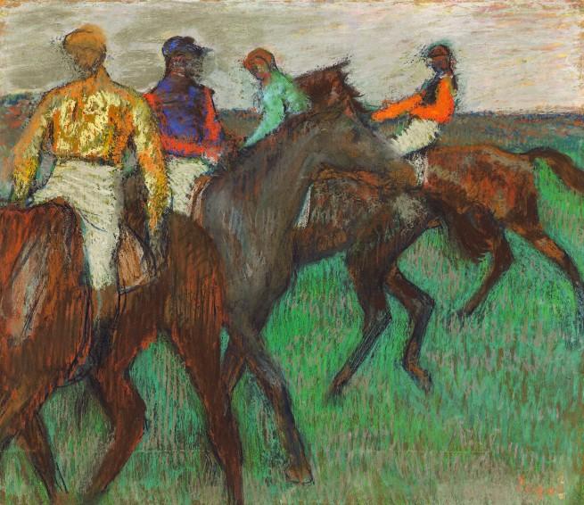 Edgar Degas. 'Chevaux de courses [Racehorses]' c. 1895-99