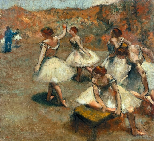 Edgar Degas. 'Dancers on the stage' c. 1899