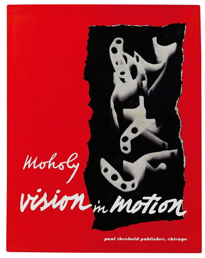 László Moholy-Nagy. 'Cover and design for Vision in Motion' (Paul Theobald, 1947)