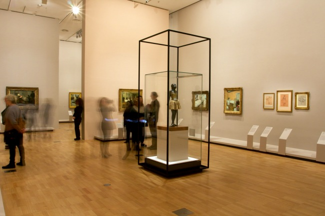 Installation view of the exhibition 'Degas: A New Vision' at the National Gallery of Victoria International, Melbourne