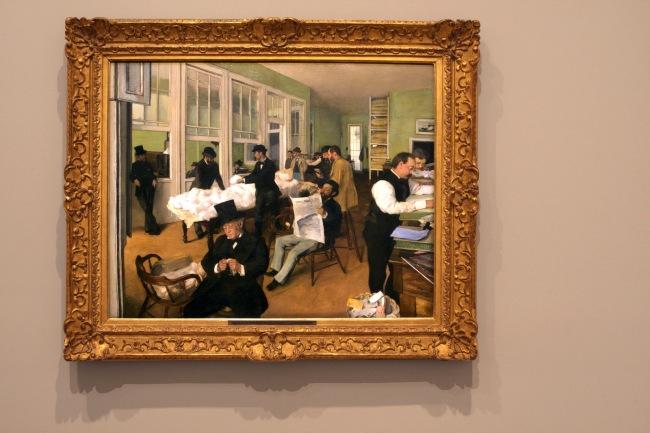 Edgar Degas. 'Un bureau de coton à la Nouvelle-Orléans [A cotton office in New Orleans]' (installation view) 1873